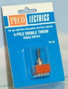 Peco PL21 4-pole double throw toggle switch - reduced further
